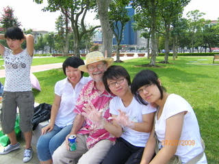Peter with Students In Weihai